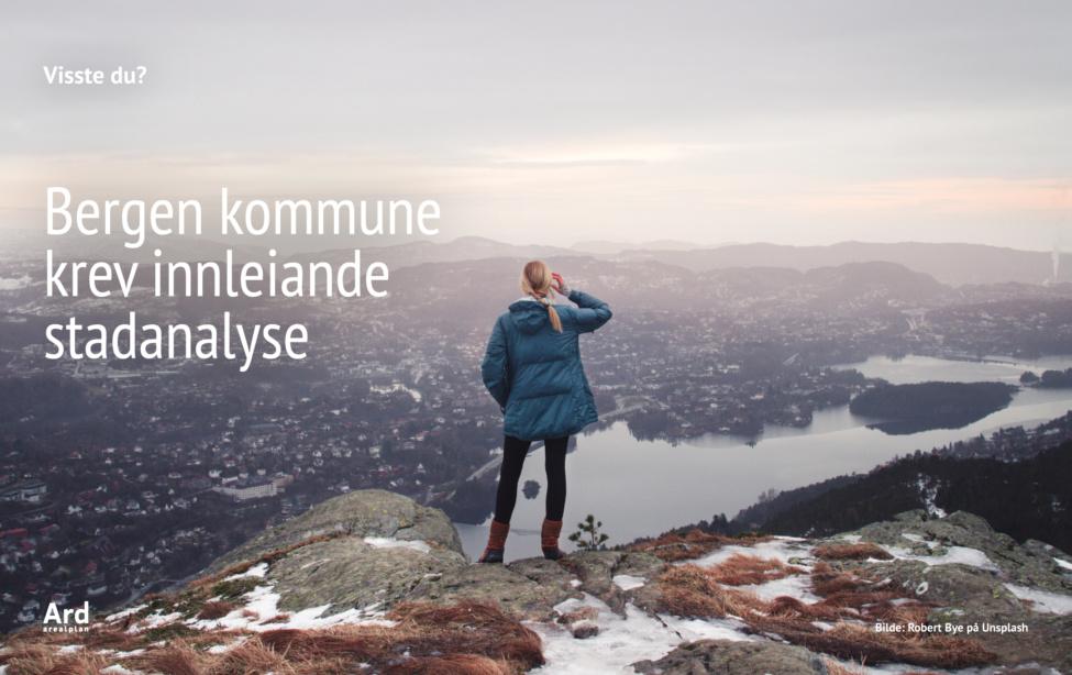 Bergen kommune krev innleiande stadanalyse